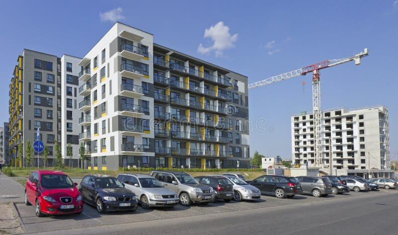 Nueva casa modular estándar con la construcción de los apartamentos del bajo costo imagenes de archivo