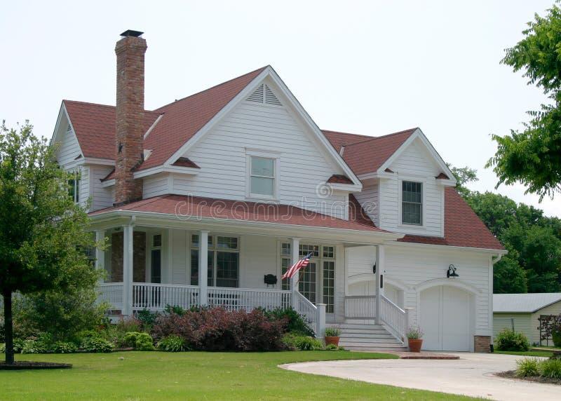 Nueva casa vieja fotografía de archivo