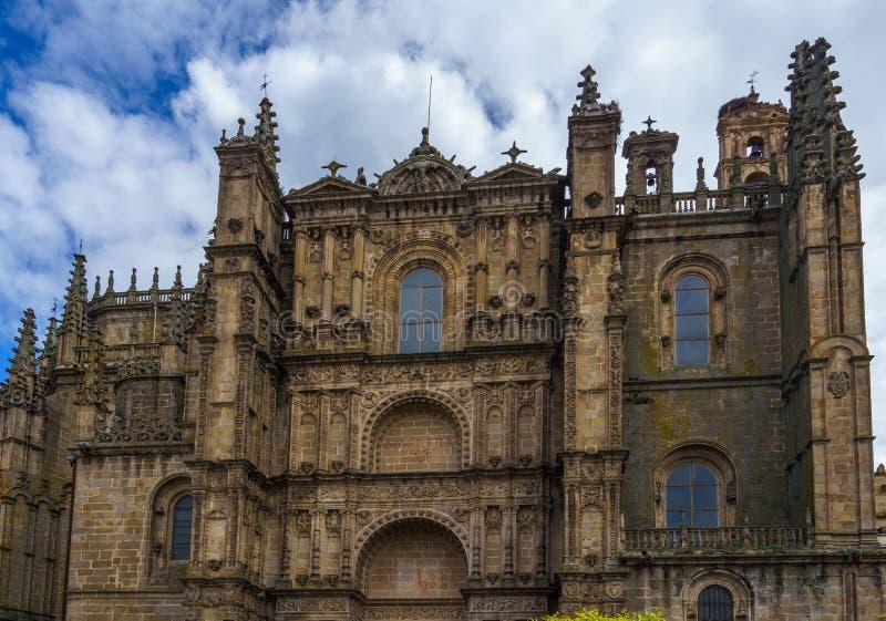 Nueva catedral de Plasencia o de Catedral de Asuncion de Nuestra Senora, Espa?a fotos de archivo libres de regalías