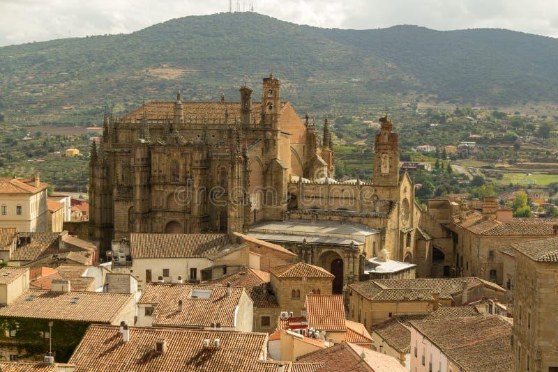 Nueva catedral de Plasencia imágenes de archivo libres de regalías