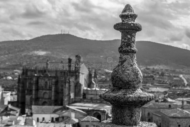 Nueva catedral de Plasencia fotografía de archivo libre de regalías