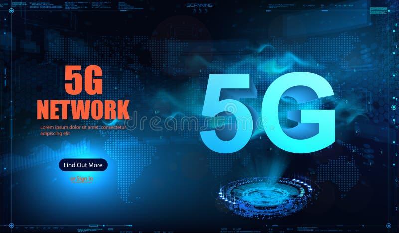 nueva conexión inalámbrica del wifi de Internet 5G stock de ilustración