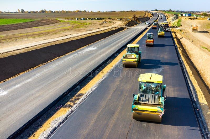 Nueva construcción de carreteras fotos de archivo