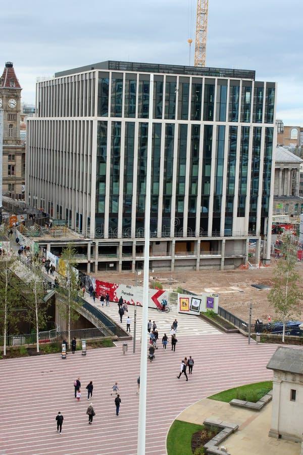 Nueva construcción de edificios, Paradise, Birmingham fotos de archivo libres de regalías