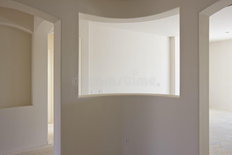 Nueva construcción del interior de la mampostería seca imagen de archivo