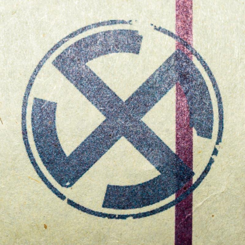 Nueva Deli, la India, el 10 de marzo de 2019: Encuesta india, elección, votando, símbolo, logotipo en un fondo de papel aprobad imagen de archivo libre de regalías