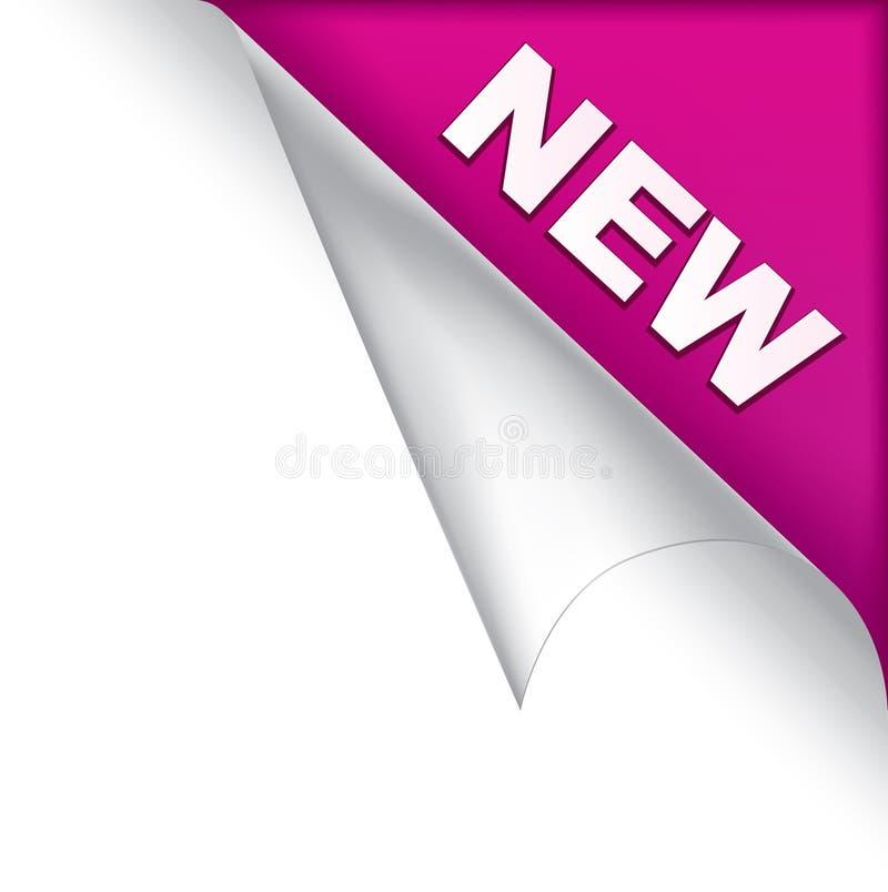 Nueva esquina púrpura de la paginación stock de ilustración