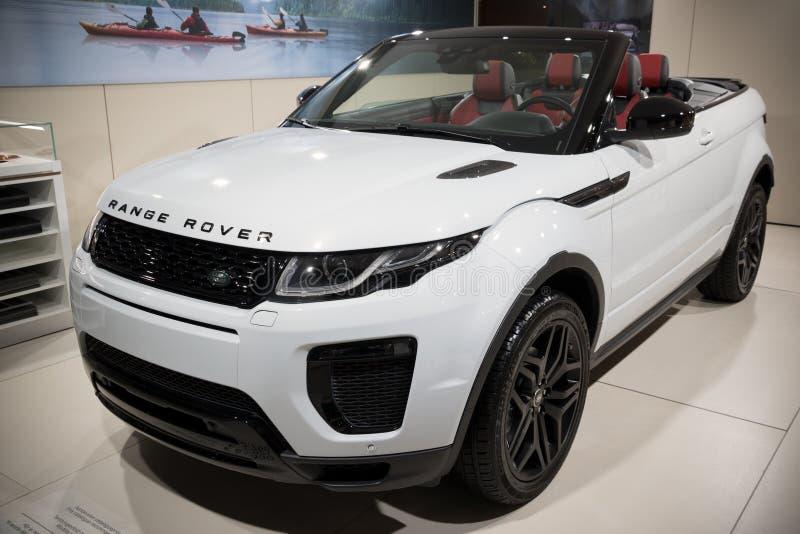 Nueva gama Rover Evoque Convertible imagenes de archivo