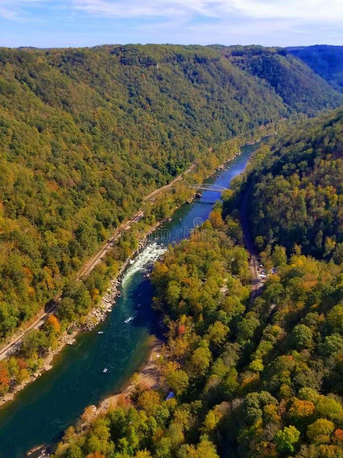 Nueva garganta del río, I imagenes de archivo