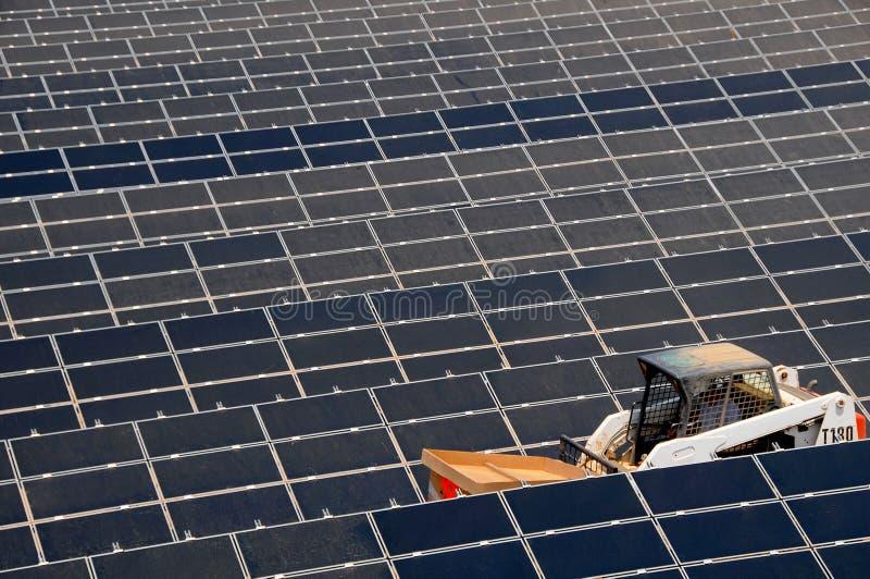 Nueva granja de energía solar 2 fotografía de archivo
