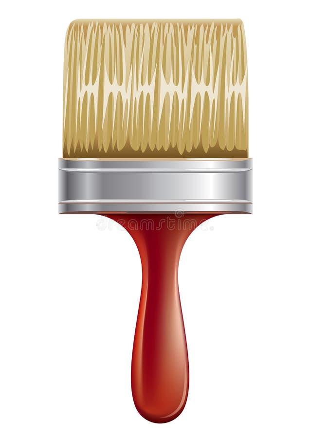 Nueva herramienta de funcionamiento del cepillo de pintura del vector aislada stock de ilustración