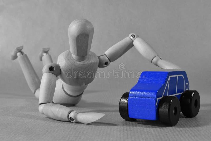 Nueva idea de pensamiento del concepto de la publicidad del coche Extracto fotografía de archivo libre de regalías