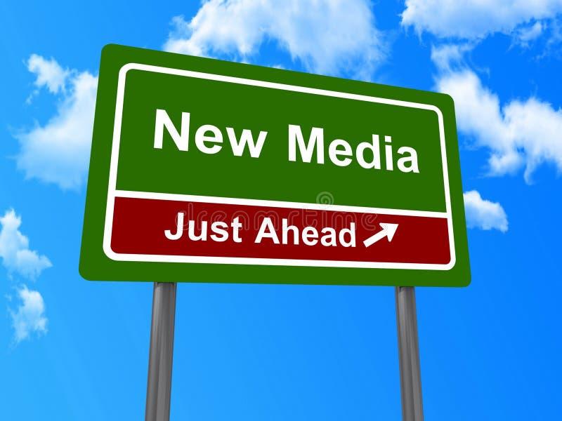 Nueva medios señal de tráfico imagen de archivo