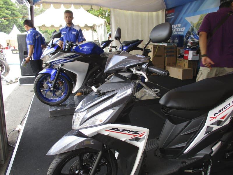 Nueva motocicleta foto de archivo libre de regalías