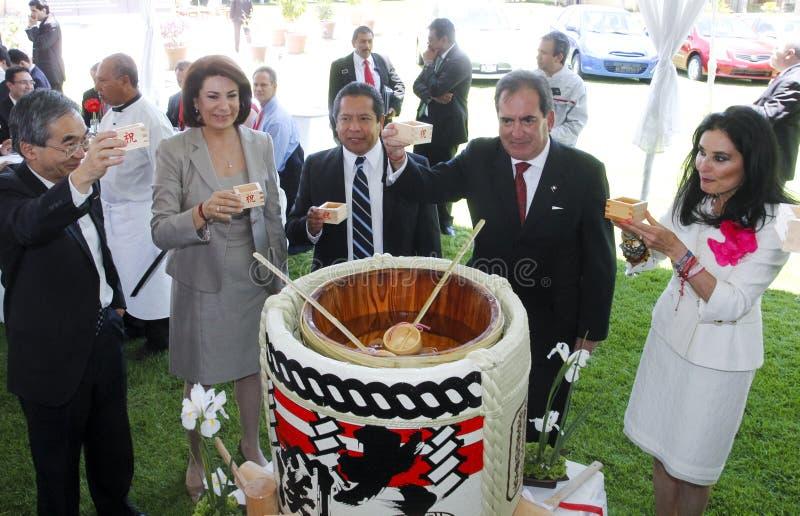 Nueva planta de coche de Nissan en México foto de archivo libre de regalías