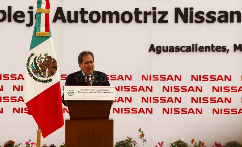 Nueva planta de coche de Nissan en México imágenes de archivo libres de regalías