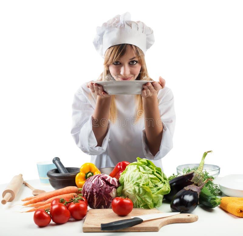 Nueva receta para un cocinero fotos de archivo