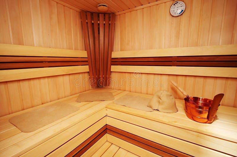 Nueva sauna fotografía de archivo