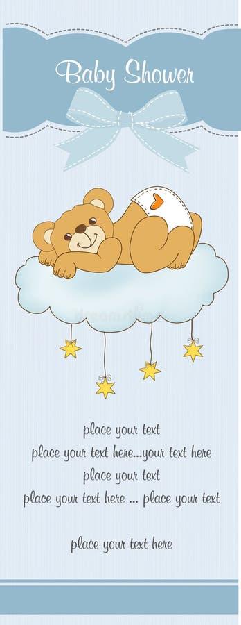 Nueva tarjeta de la ducha de bebé libre illustration