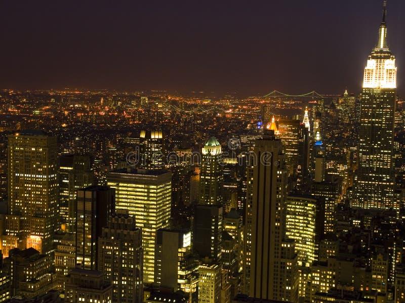 Nueva York en la noche fotos de archivo libres de regalías