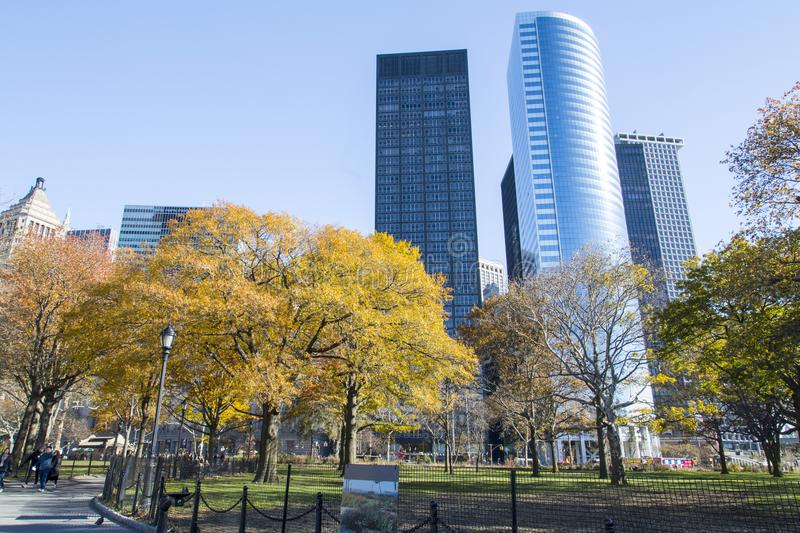 Nueva York, horizonte del Lower Manhattan imagen de archivo