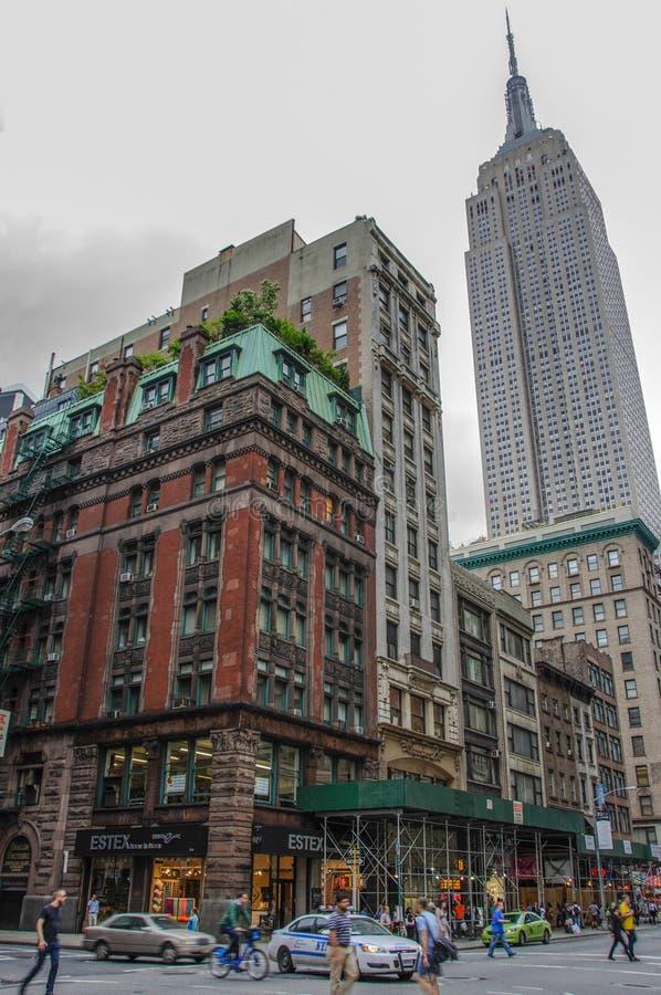Nueva York, los E.E.U.U. - 12 de junio de 2014: Vista del Empire State Building en New York City fotos de archivo libres de regalías