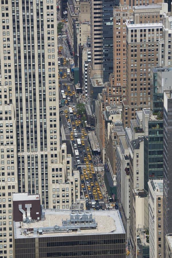 Nueva York, los E.E.U.U. vistos desde arriba fotos de archivo