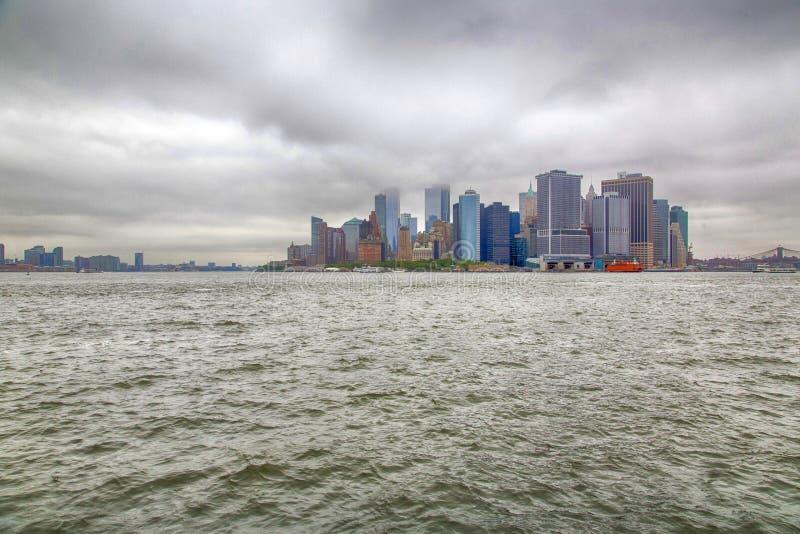 Nueva York, Lower Manhattan y distrito financiero imagen de archivo libre de regalías