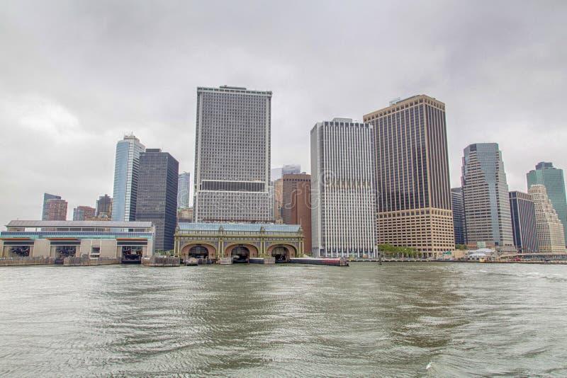 Nueva York, Lower Manhattan y distrito financiero fotos de archivo