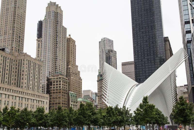 Nueva York, Lower Manhattan y distrito financiero imagenes de archivo