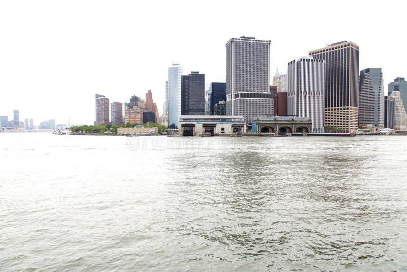 Nueva York, Lower Manhattan y distrito financiero foto de archivo libre de regalías