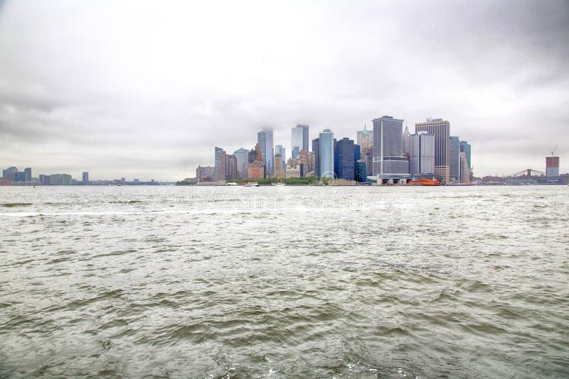 Nueva York, Lower Manhattan y distrito financiero foto de archivo