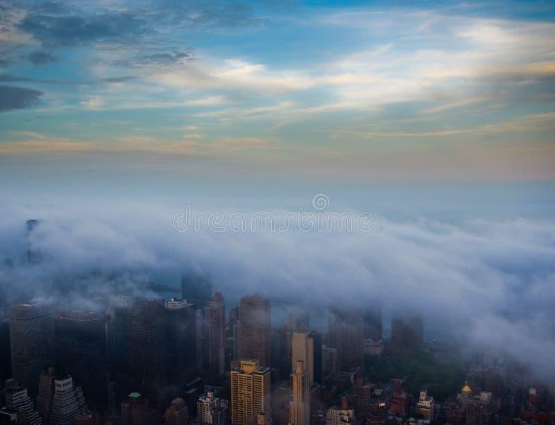 Nueva York nublada foto de archivo libre de regalías