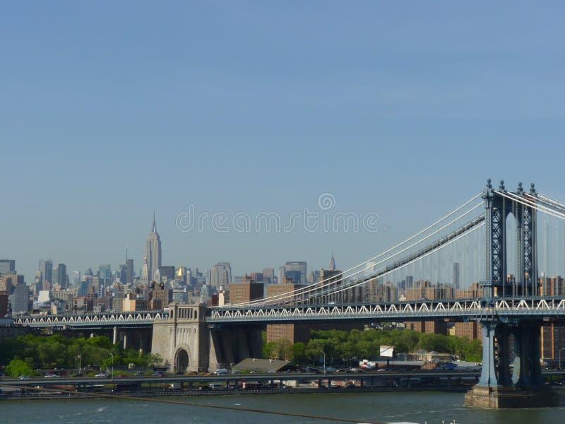 Nueva York. Puente de Manhattan imagen de archivo