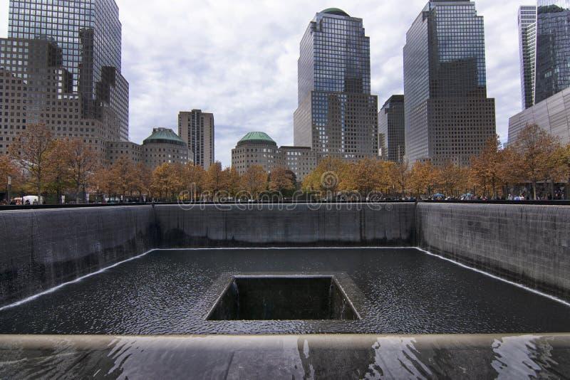 Nueva York World Trade Center monumento y museo nacionales del 11 de septiembre fotografía de archivo libre de regalías