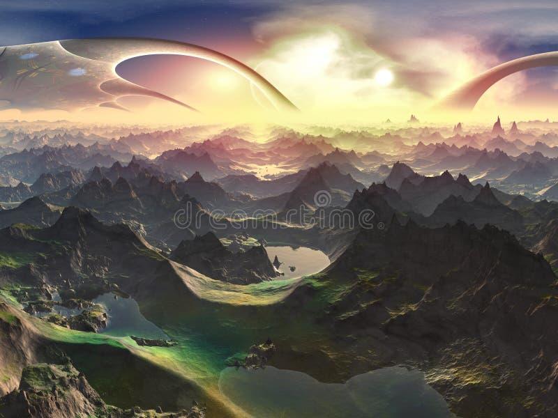 Nuevamente mundo de Terraformed libre illustration