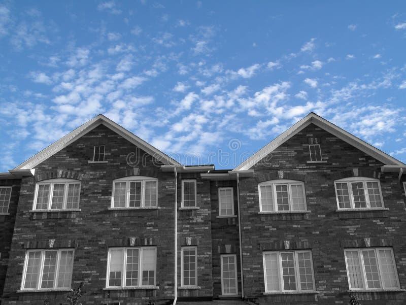 Nuevas casas fotografía de archivo libre de regalías