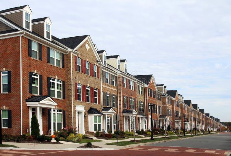 Nuevas casas urbanas foto de archivo libre de regalías