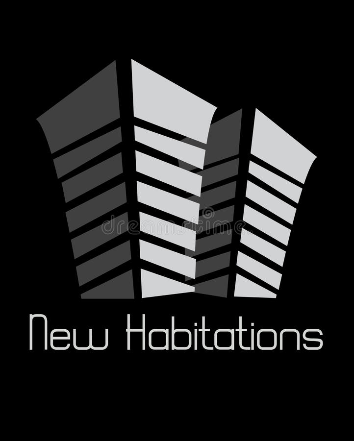 Nuevas habitaciones ilustración del vector
