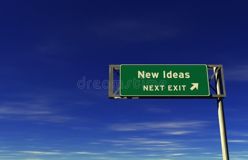 Nuevas ideas - muestra de la salida de autopista sin peaje ilustración del vector