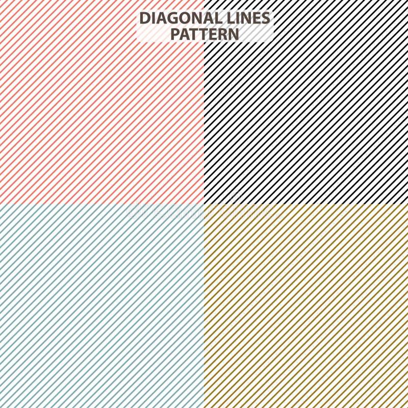 Nuevas líneas diagonales modelo Colores amarillos azules negros rojos de la nueva tendencia moderna para el fondo Vector geomét libre illustration