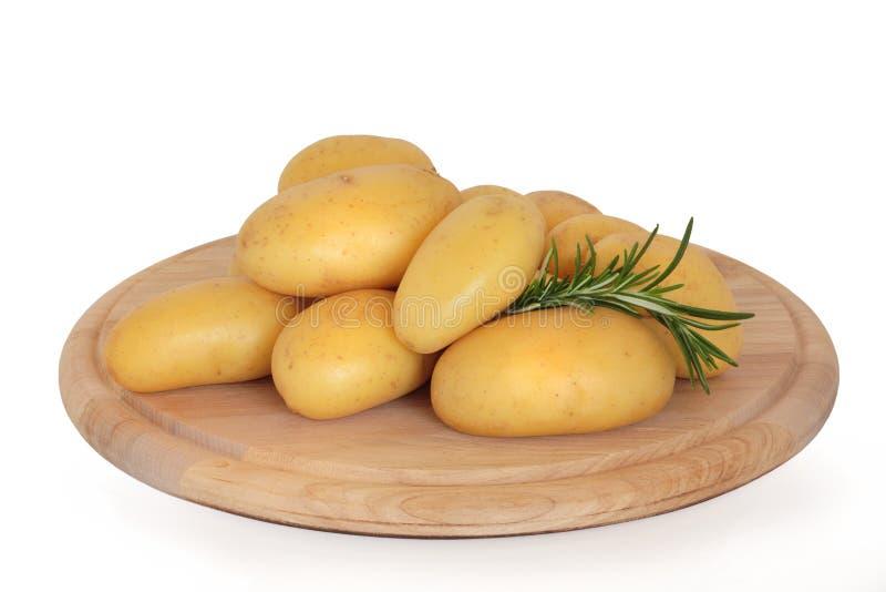 Nuevas patatas con la hierba de Rosemary imágenes de archivo libres de regalías