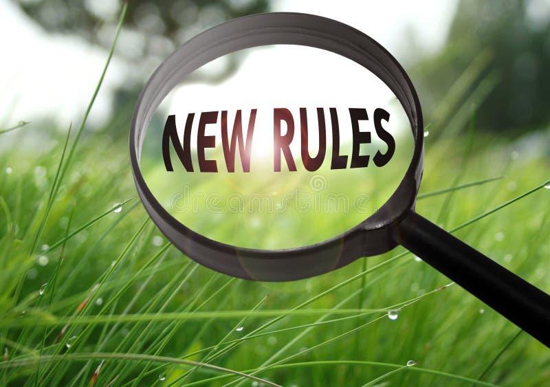 Nuevas reglas imagen de archivo libre de regalías