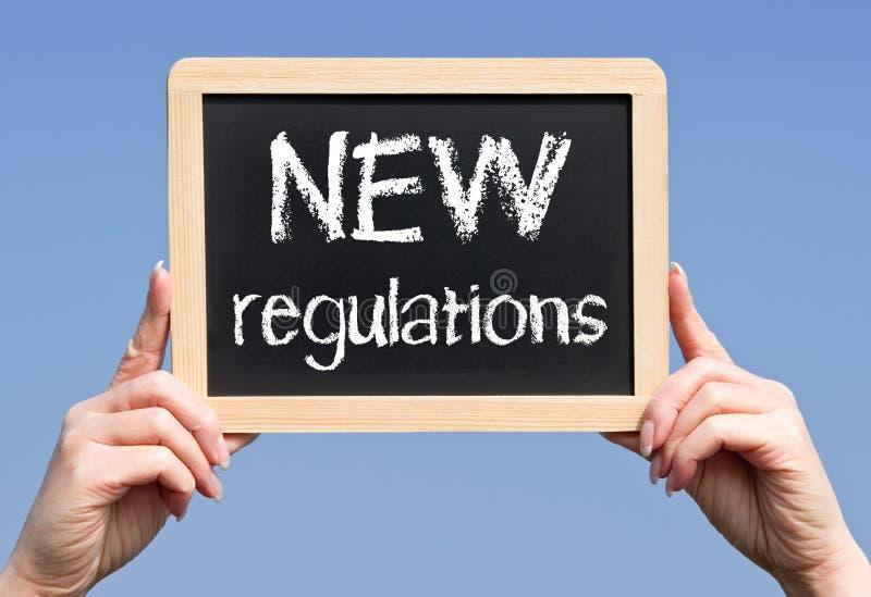 Nuevas regulaciones foto de archivo libre de regalías