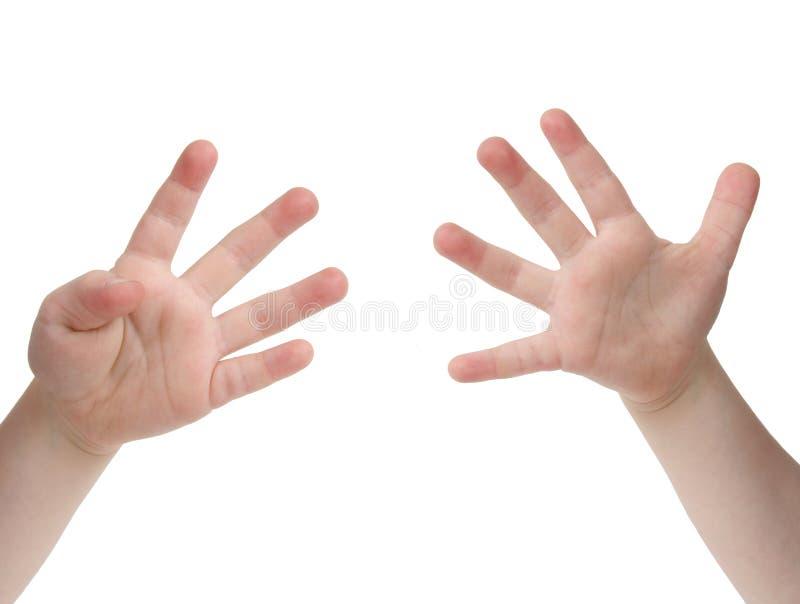 Nueve dedos foto de archivo