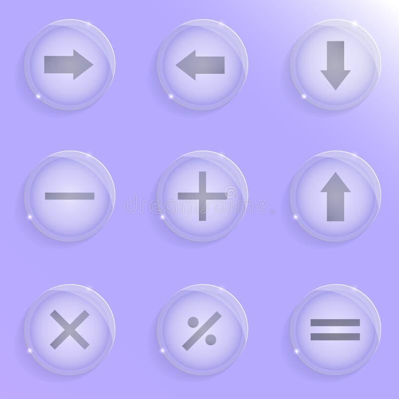 Nueve iconos de cristal libre illustration