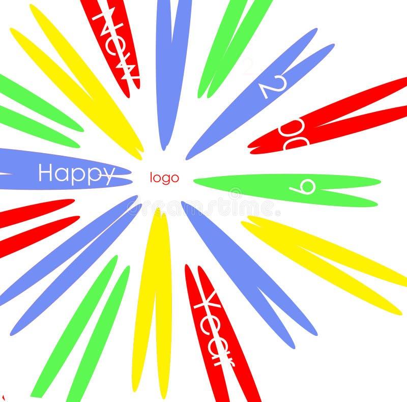 Nuevo 2009 años feliz libre illustration