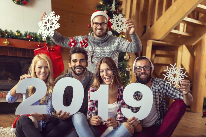 Nuevo 2019 años feliz fotos de archivo