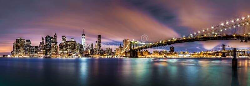 Nuevo amanecer sobre el Lower Manhattan fotos de archivo libres de regalías
