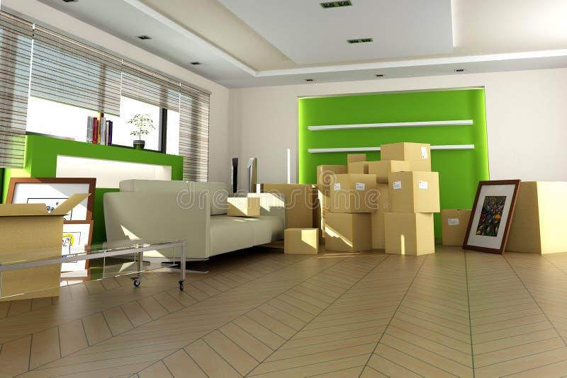Nuevo apartamento stock de ilustración